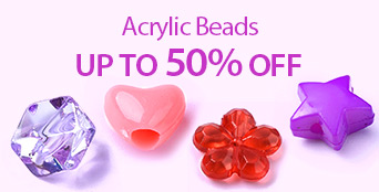 Acrylic Beads Up to 50% OFF